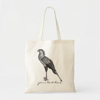 Vintage Secretary Bird Budget Tote Bag