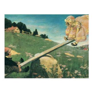 Vintage See Saw Margery Daw, Jessie Willcox Smith Postcard