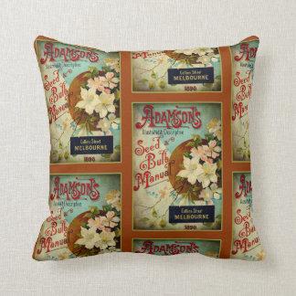 """Vintage Seed Catalog Throw Pillow, 16"""" x 16"""" Throw Pillow"""