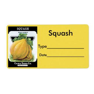 Vintage Seed Pack Label Squash