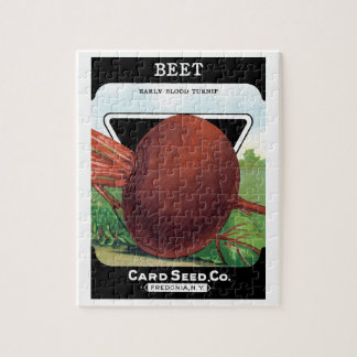 Vintage Seed Packet Label Art, Beet Vegetables Jigsaw Puzzle