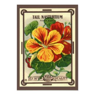 Vintage Seed Packet Label Art, Nasturtiums Card