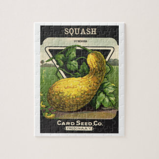 Vintage Seed Packet Label Art Yellow Summer Squash Jigsaw Puzzle