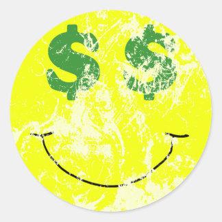 Vintage Seeing Green Smiley Sticker