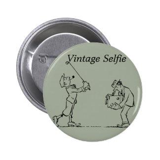 Vintage Selfie, 2¼ Inch Round Button