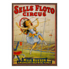 Vintage 'Sells Floto' Circus Advertisement Poster