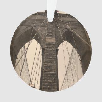 Vintage Sepia Brooklyn Bridge New York