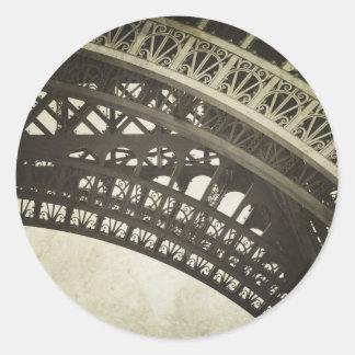 Vintage Sepia Eiffel Tower Arch Photo Sticker
