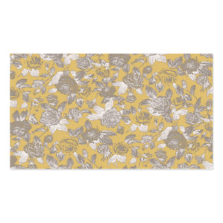 Vintage Sepia Floral Print Pattern Double-Sided Standard Business Cards (Pack Of 100)