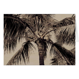 Vintage Sepia Retro Hawaiian Palm Tree Template