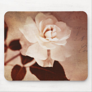 Vintage Sepia Rose Flower Floral Flowers Roses Mouse Pad