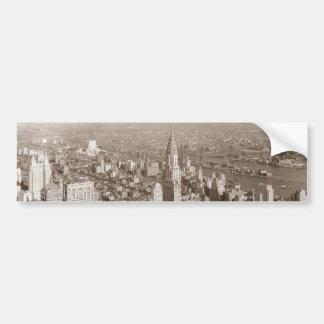 Vintage Sepia Tone New York Bumper Sticker