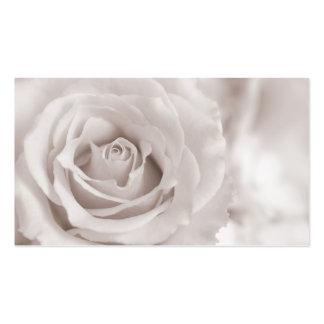 Vintage Sepia White & Cream Rose Background Custom Business Card