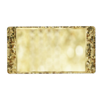 Vintage Sequin Gold Bokeh Template