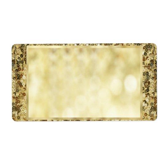 Vintage Sequin Gold Bokeh Template