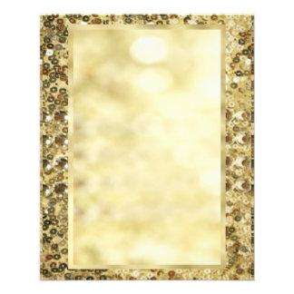 Vintage Sequin Gold Bokeh Template Flyers