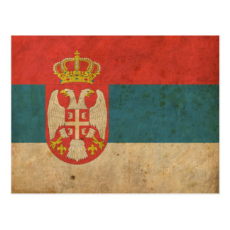Vintage Serbia Flag Postcard