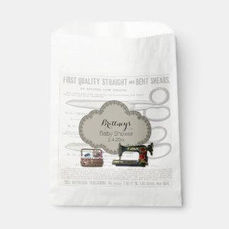 Vintage Sewing Baby Shower Favour Bag