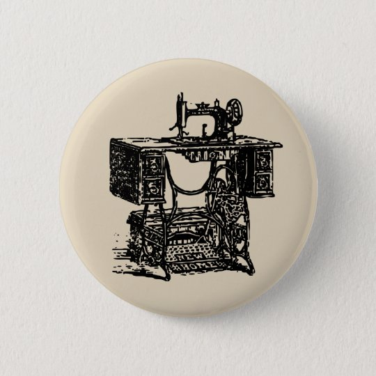 Vintage Sewing Badge 2 Inch Round Button