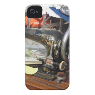 Vintage sewing machine at flea market iPhone 4 Case-Mate cases
