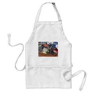 Vintage sewing machine at flea market standard apron