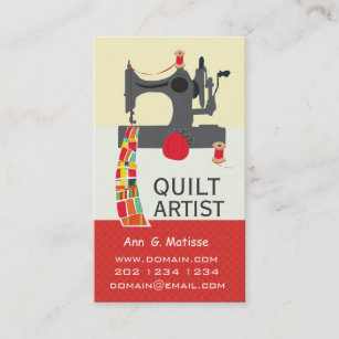 Vintage sewing machine business cards business card printing vintage sewing machine bold crafts quilt artist business card reheart Image collections