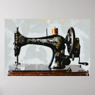 Vintage Sewing Machine Just Like Grandma's Poster