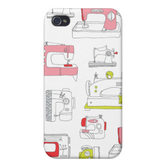 Vintage sewing machine retro diy girls pattern cases for iPhone 4