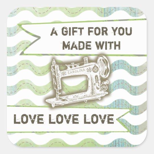 Vintage sewing machine rickrack gift tag label