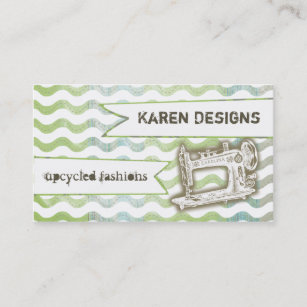 Vintage sewing machine business cards business card printing vintage sewing machine rickrack seamstress business card reheart Image collections