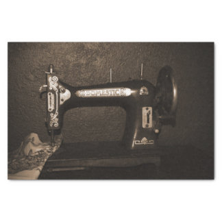 Vintage Sewing Machine Tissue Paper
