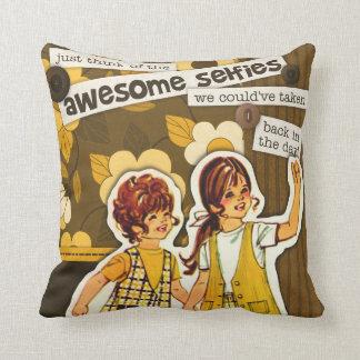 """Vintage Sewing Pattern Art"" Selfie Pillow"