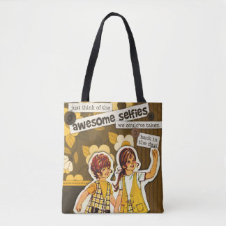 """Vintage Sewing Pattern Art"" Selfie Tote Bag"