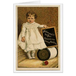 Vintage Sewing Thread Ad, Card