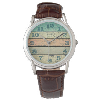 Vintage Shabby Beach Boards Rustic Decorative Wood Wrist Watches