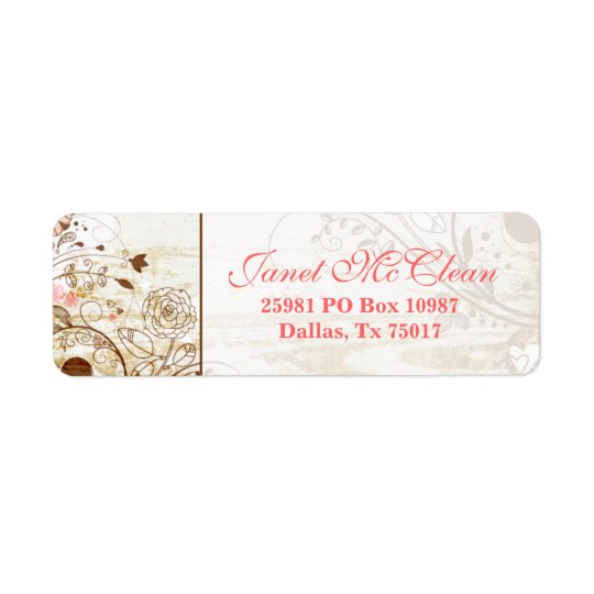 Vintage Shabby Chic Floral Address Label