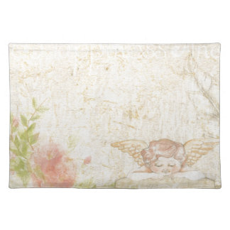 Vintage Shabby Chic Sweet Angelique Placemat