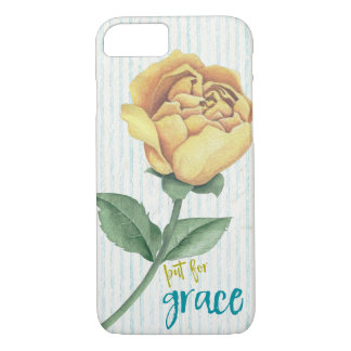 Vintage Shabby Rose with But for Grace Quote iPhone 8/7 Case