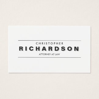 VINTAGE SHADOW TYPE Business Card