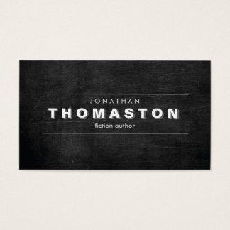 VINTAGE SHADOW TYPE on Black Wood Business Card