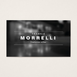 VINTAGE SHADOW TYPE on Moody Photo Business Card