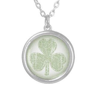 Vintage Shamrock Silver Plated Necklace