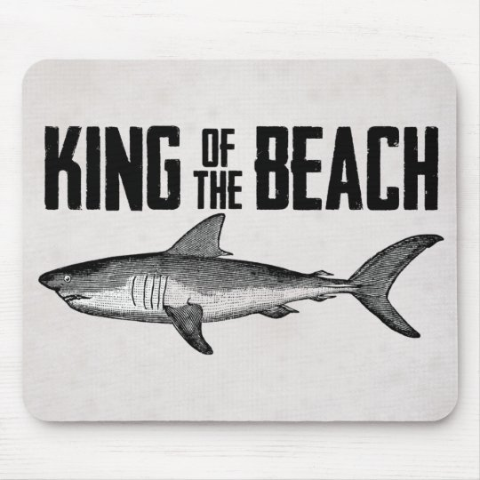 Vintage Shark Beach King Mouse Pad