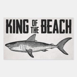 Vintage Shark Beach King Sticker