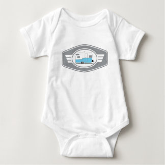Vintage Shasta Trailer Baby Bodysuit