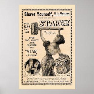 Vintage Shaving Poster