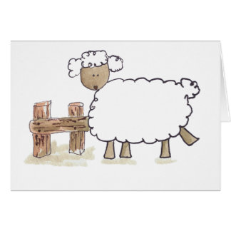 Vintage Sheep by Serena Bowman funny farm animals Card