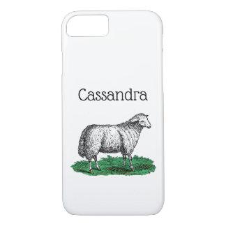 Vintage Sheep Ewe Farm Animals Drawing C Case-Mate iPhone Case