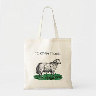 Vintage Sheep Ewe Farm Animals Drawing C Tote Bag
