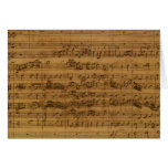 Vintage Sheet Music by Johann Sebastian Bach Greeting Cards